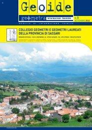 settembre 2012 - Collegio dei Geometri della provincia di Sassari