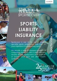 Download Sports Liability Insurance Brochure - Sportscover