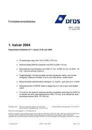 1. halvår 2004 - DFDS