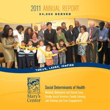 Download a copy of our 2011 Annual Report here. - Mary's Center