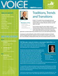 Traditions, Trends and Transitions