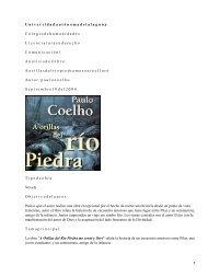 A orillas del río Piedra me senté y lloré, Paulo Coelho