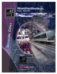 FINAL REPORT - Westside Cities Council of Governments