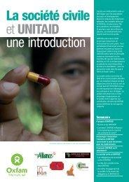 La société civile et UNITAID : une introduction