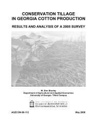 conservation tillage in georgia cotton production - University of ...