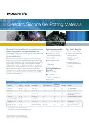 Dielectric Silicone Gel Potting Materials - SINUS Electronic