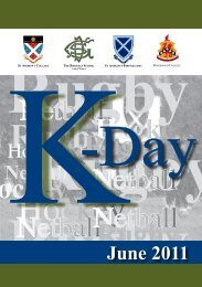 k day programme - St Andrew's College