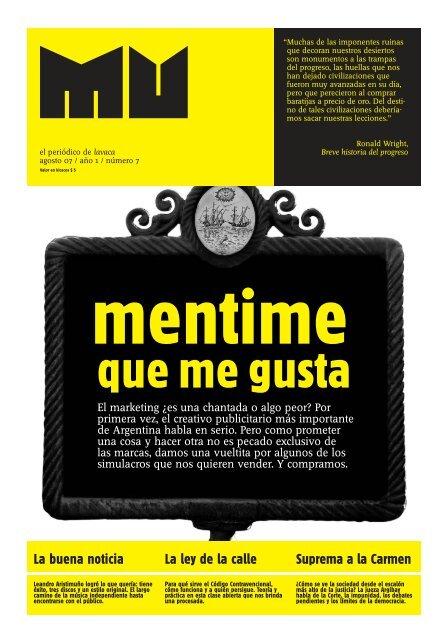 La buena noticia La ley de la calle Suprema a la Carmen - Lavaca