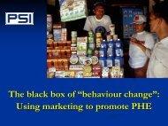 The black box of behaviour change: using marketing to promote PHE