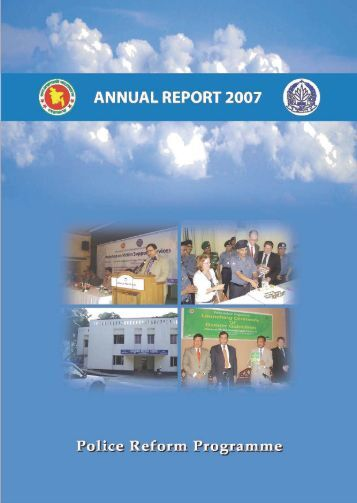 Annual Report--2007 - Police Reform Programme