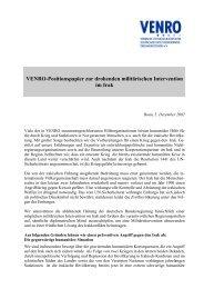 Entwurf Mazedonien Stellungnahme VENRO