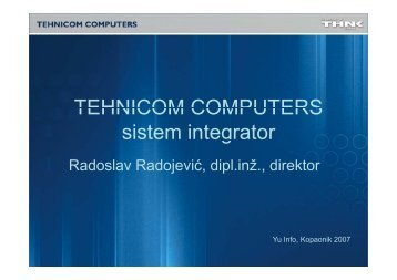 TEHNICOM COMPUTERS sistem integrator