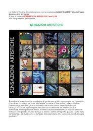 SENSAZIONI ARTISTICHE - Galleria d'Arte Mentana