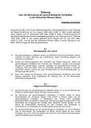 Satzung - Gemeinde Winsen (Aller)
