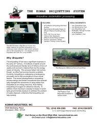 Briquetter - Komar Industries