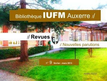 février - mars 2013 - Bibliothèque de l'université de Bourgogne