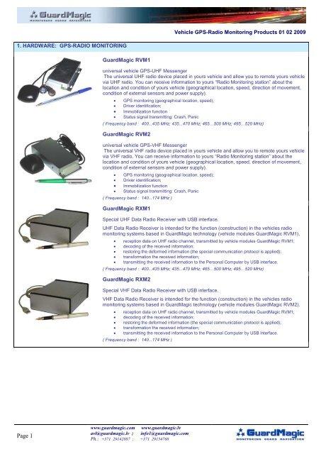 03 GuardMagic Vehicle GPS-Radio Monitoring products pdf