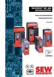 Tabellenpositionierung - SEW Eurodrive