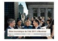 Bilan touristique de l'été 2011 à Montréal