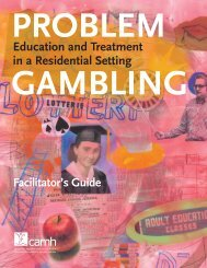 Problem Gambling Education and Treatment in a Residential Setting ...