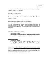 Council Minutes Monday, April 2, 2007 - City Of St. John's
