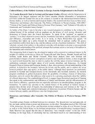 Canada Research Chair in German and European Studies Till van ...