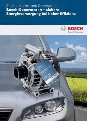 Bosch-Generatoren - Bosch Automotive Technology