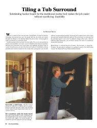 Tiling a Tub Surround -  Fine Homebuilding