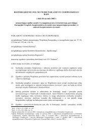 (WE) NR 178/2002 PARLAMENTU EUROPEJSKIEGO I RADY z ...
