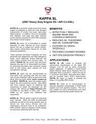 KAPPA SL (2007 Heavy Duty Engine Oil—API CJ-4/SL)