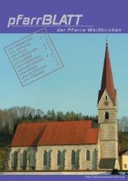 pfarrBLATT - Pfarre Weißkirchen an der Traun