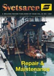 Repair & Maintenance Repair & Maintenance - Esab