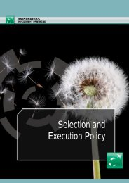 Selection and Execution Policy - BNP Paribas Investment Partners