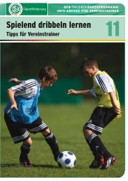 Broschüre 11: Spielend dribbeln lernen - FV Griesheim