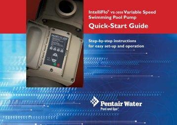 IntelliFlo VS-3050 Quick Start Guide - Onga