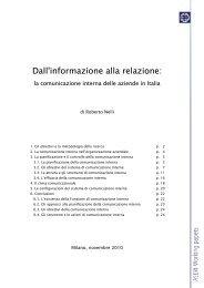 Le configurazioni della comunicazione interna in Italia (.pdf) - Prima ...