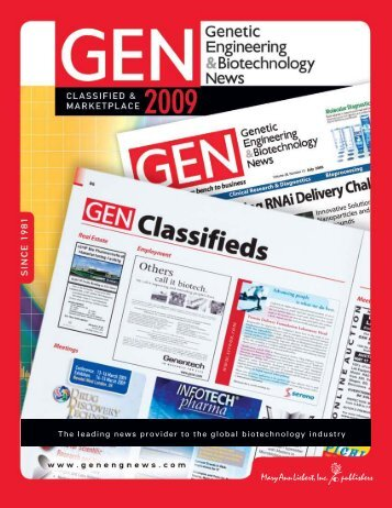 2009 Classified Media Kit - Genetic Engineering News