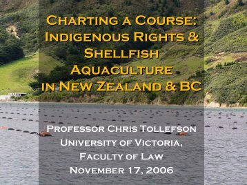 Charting a Course - The Environmental Law Centre - University of ...