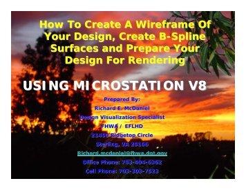 USING MICROSTATION V8