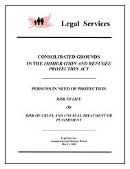 Consolidated Grounds in the Immigration and Refugee Protection ...