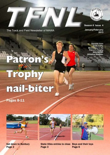 January february 2013 x - Masters Athletics W.A.