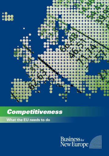 Competitiveness - Business for New Europe