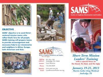 SAMS 2013 Leadership Training Opportuniteis [PDF] - Anglican ...