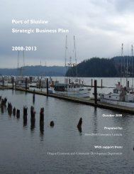 Port of Siuslaw Strategic Business Plan 2008-2013 - The Port of ...