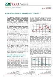 Crise financière : quel impact pour la France - Etudes économiques ...