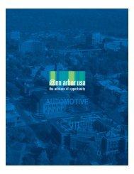 Automotive industry brochure - Ann Arbor SPARK