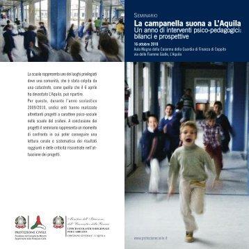 La campanella suona a L'Aquila - Dipartimento della Protezione Civile