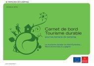 Carnet de bord Tourisme durable - Région Midi-Pyrénées