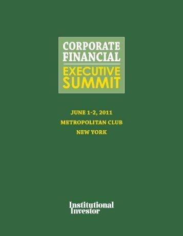 33rd Annual Corporate Financial Executive Summit - iiforums.com