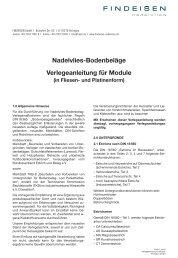 Nadelvlies-Bodenbeläge Verlegeanleitung für ... - Findeisen GmbH